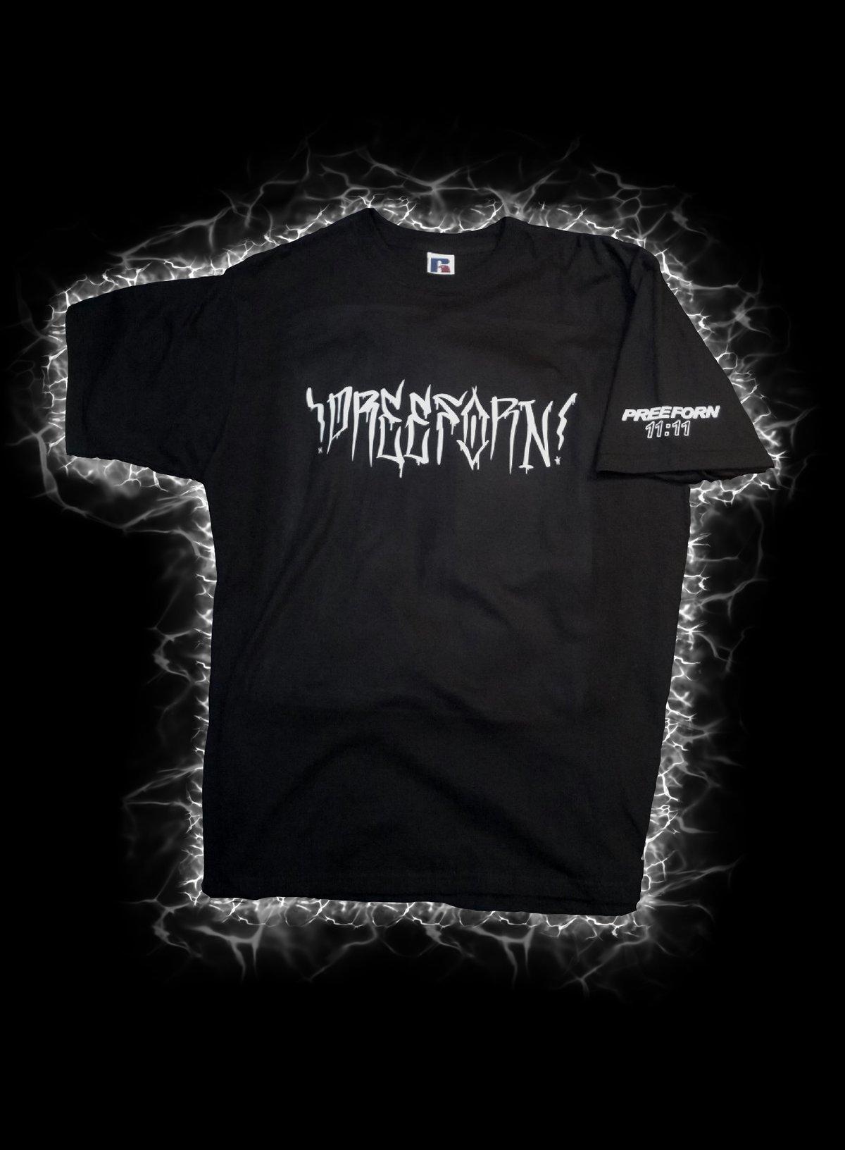 Image of PREE FORN 11;11 screaming melting nazi t-shirt