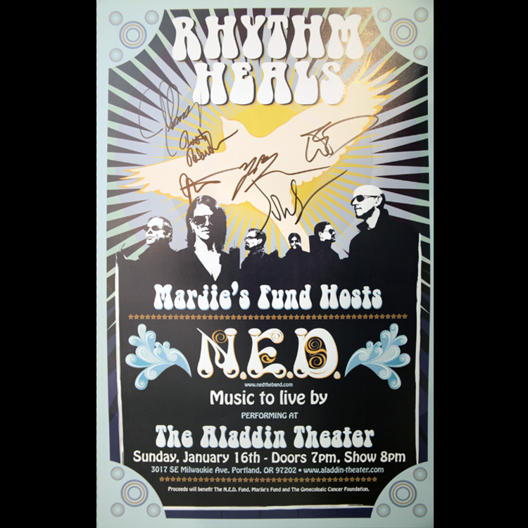 Image of N.E.D. Signed Poster from Aladdin Theater