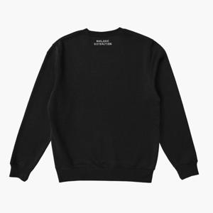 Embroidered Sweatshirt: Black