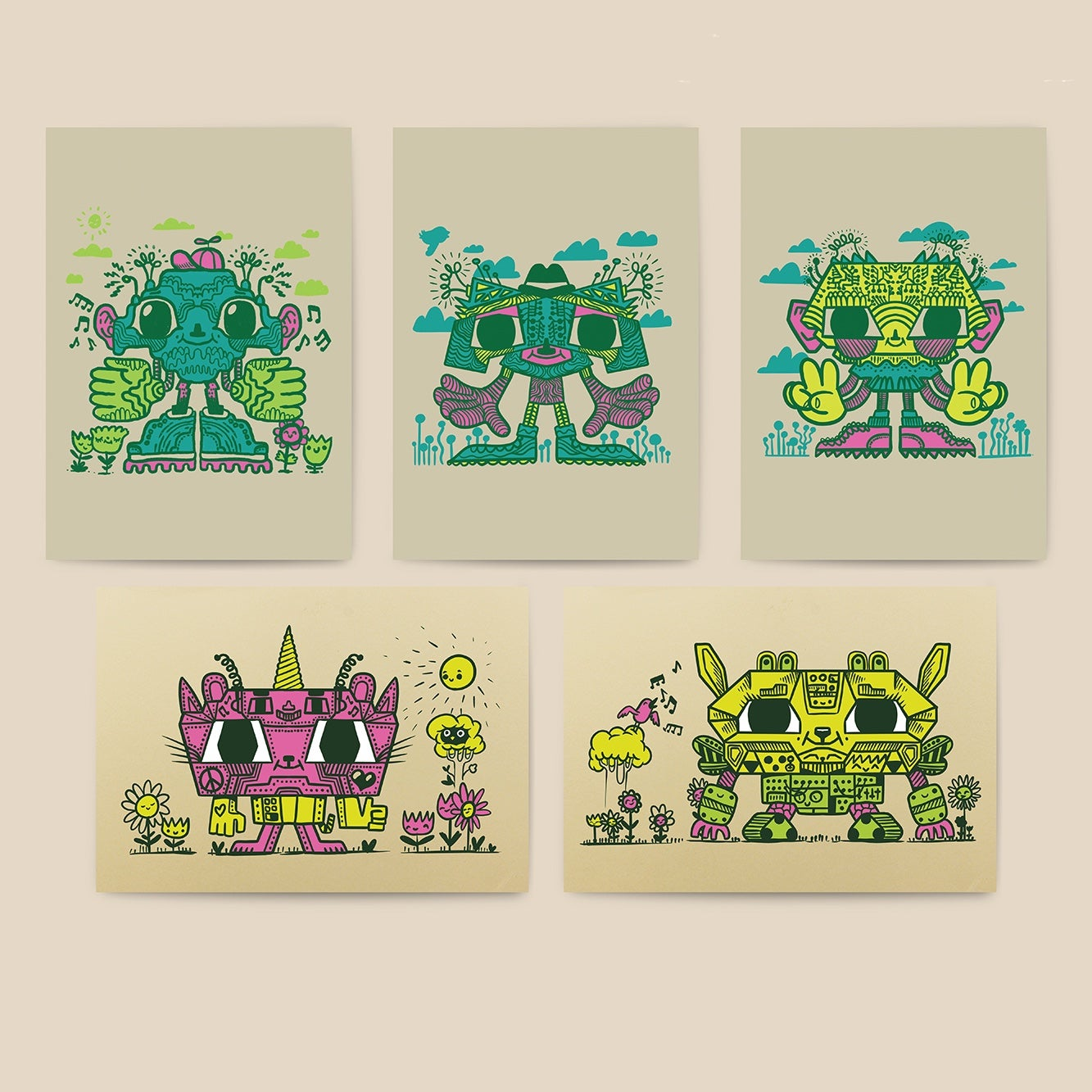 Image of Robot Postcards