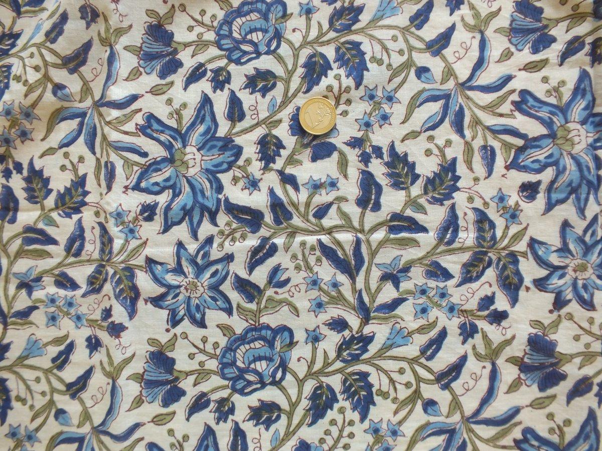 Image of Namasté fabric lys indigos