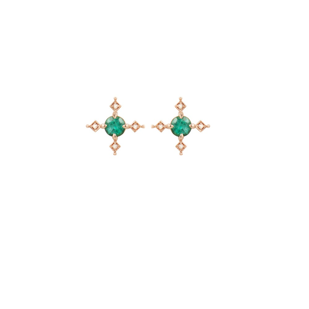Image of Ella Cross Emerald Earring