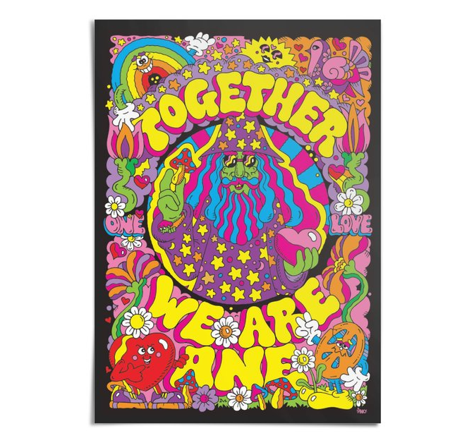 Image of 'Together We Are One' Limited Edition A3 Print