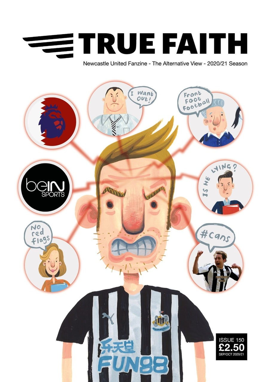 Image of TRUE FAITH ISSUE 150 GLOSSY 48 PAGE NUFC FANZINE