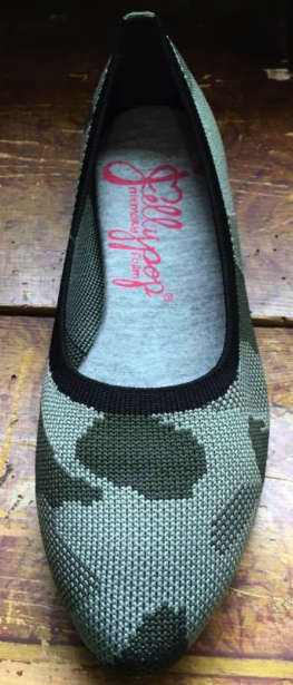 Image of Jellypop Champs with Memory Foam Camo/Green Knit