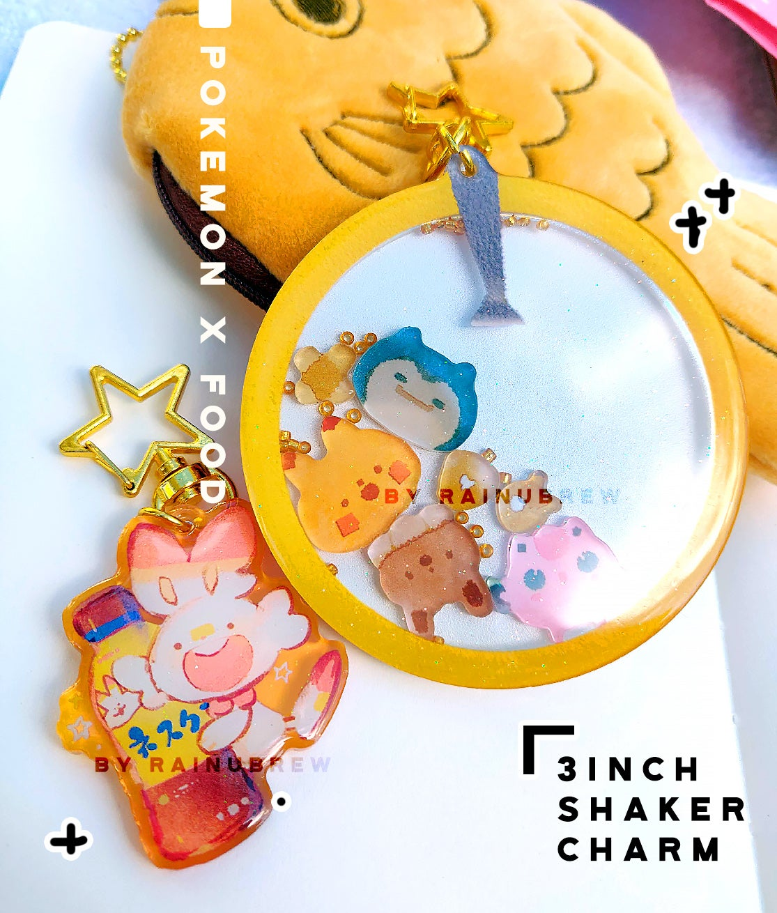 Image of Pokemon x food | 3 inch shaker charm