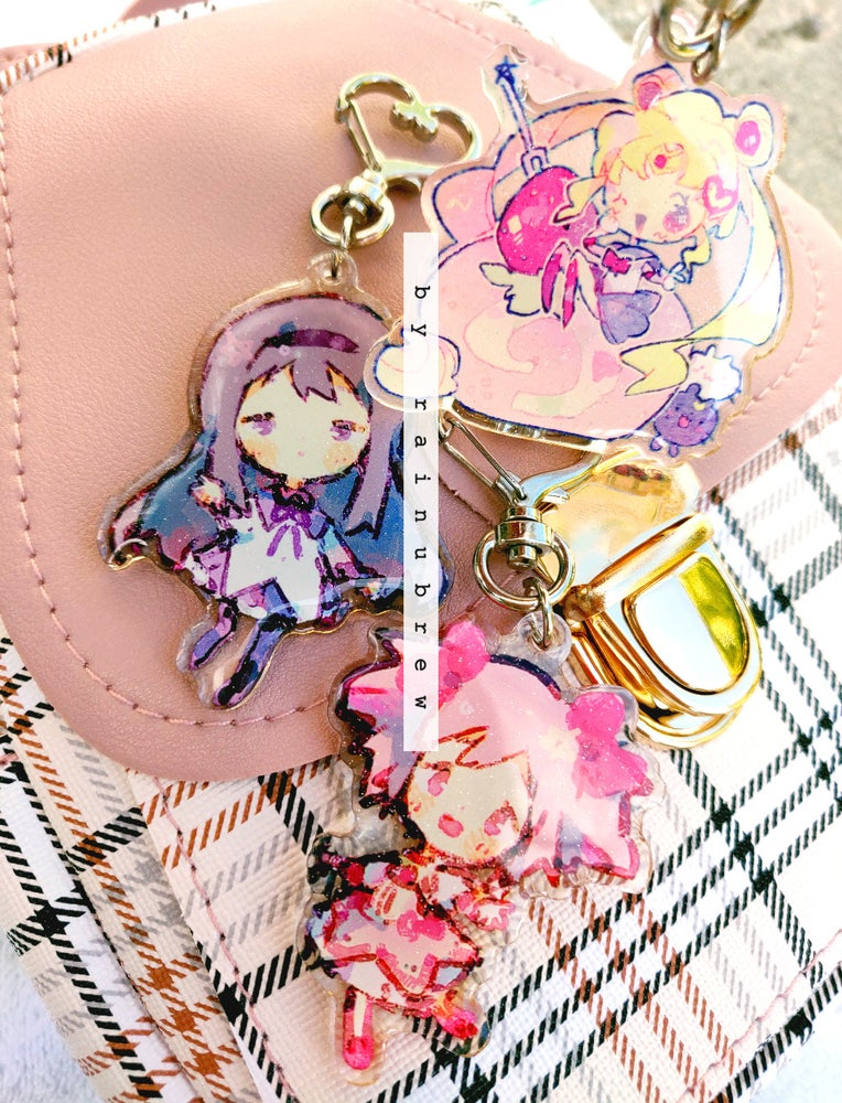Image of Madoka x Sailormoon | 2 inch charms