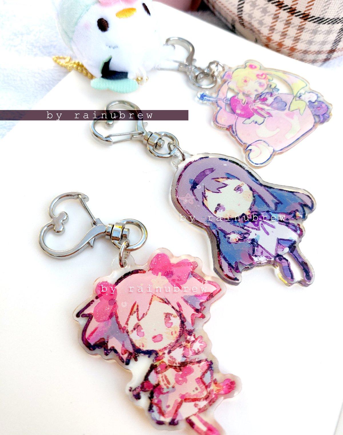 Image of Madoka x Sailormoon | 2 inch charms