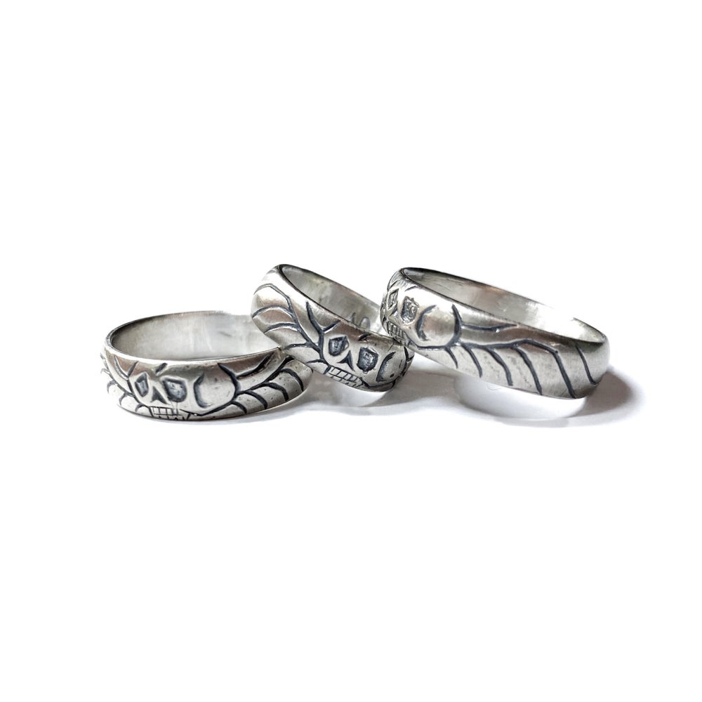 Image of Georgian mourning band in sterling silver or gold