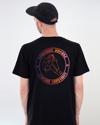 'Buntes Logo' T-Shirt Schwarz