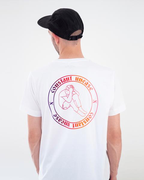 Image of Buntes Logo T-Shirt Weiß