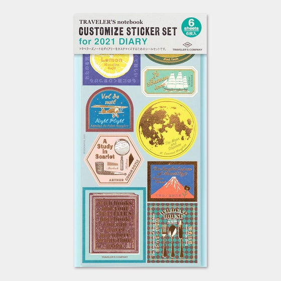 Image of Traveler's Company 2021 Customize Sticker Set (PRE-ORDER Ships 9/30)