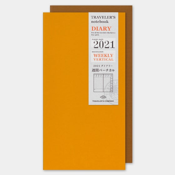 Image of Traveler's Company 2021 Regular Weekly Vertical Diary (PRE-ORDER Ships 9/30)