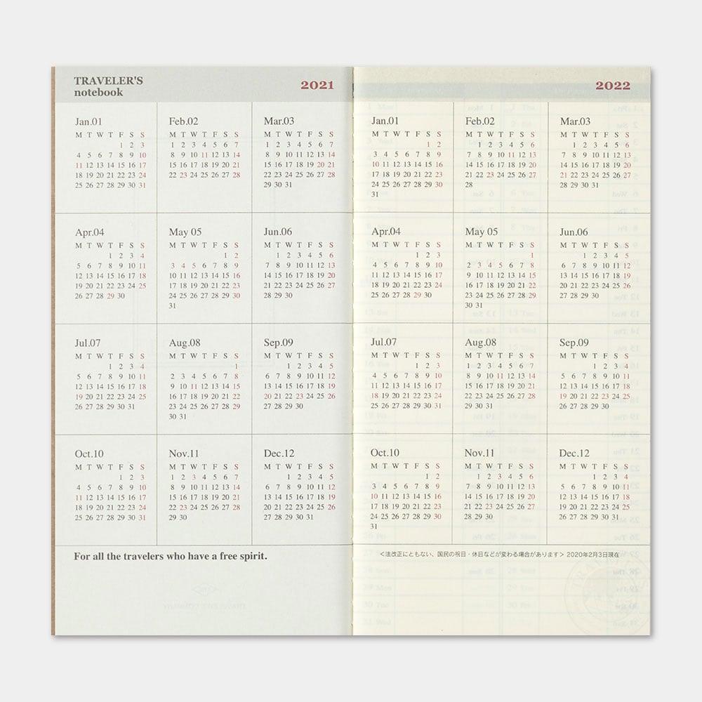 Image of Traveler's Company 2021 Regular Weekly Vertical Diary