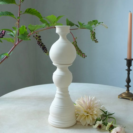Image of Queen Cylinder Vase, Warm White, #1312