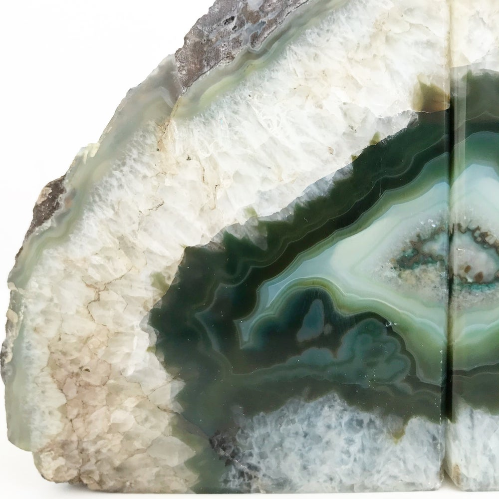 Image of AGATE/QUARTZ BOOKENDS NO.03