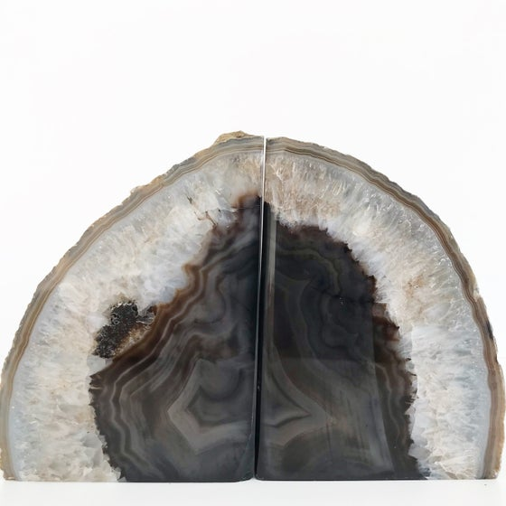 Image of AGATE/QUARTZ BOOKENDS NO.08