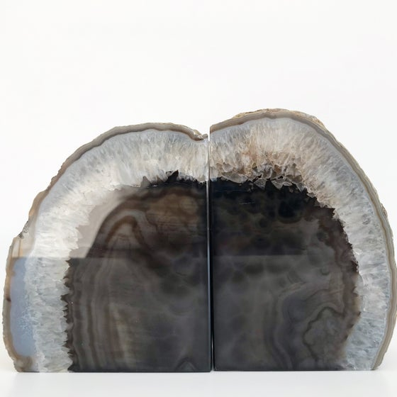 Image of AGATE/QUARTZ BOOKENDS NO.09