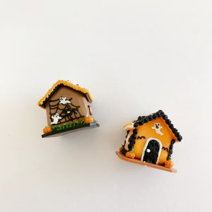 Image of Dollhouse Halloween Gingerbread House