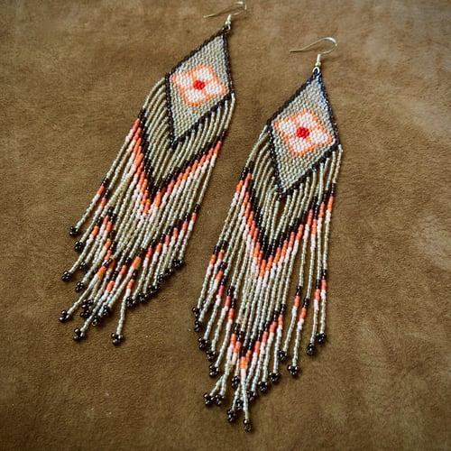 Image of Floral Glisten Fringe Earrings