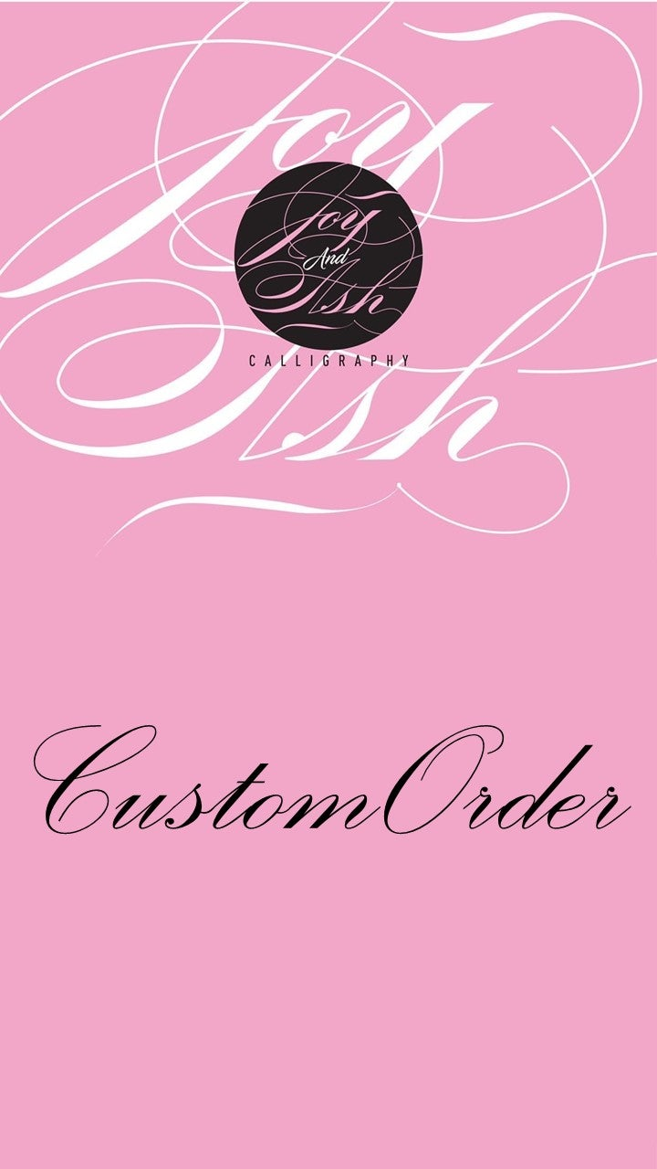 Image of CUSTOM ORDER - Please Do Not Purchase