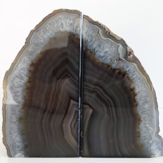 Image of AGATE/QUARTZ BOOKENDS NO.16