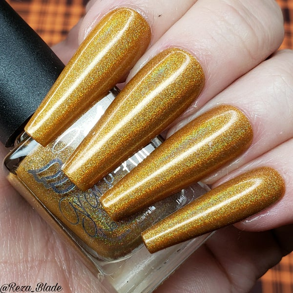 Image of Mustard the Courage – a mustard colour linear holo