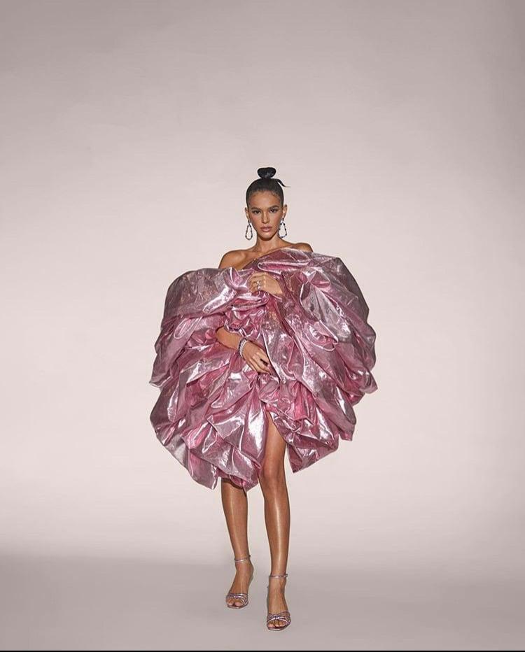 Image of Pink Ruffle Boa Bag