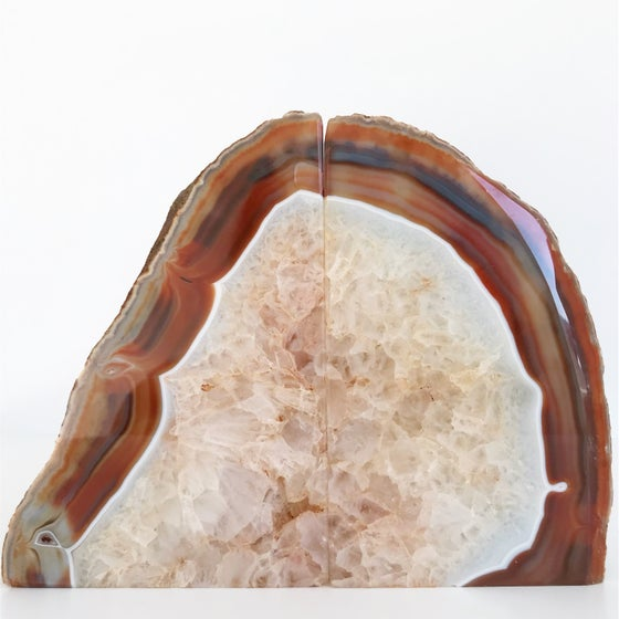 Image of AGATE/QUARTZ BOOKENDS NO.11