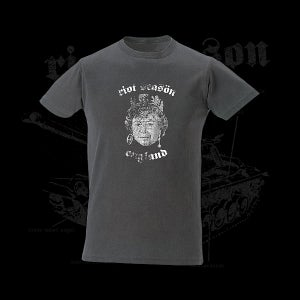 Image of RIOT SEASON Eroded Queen Vintage Fit T-Shirt (Charcoal)
