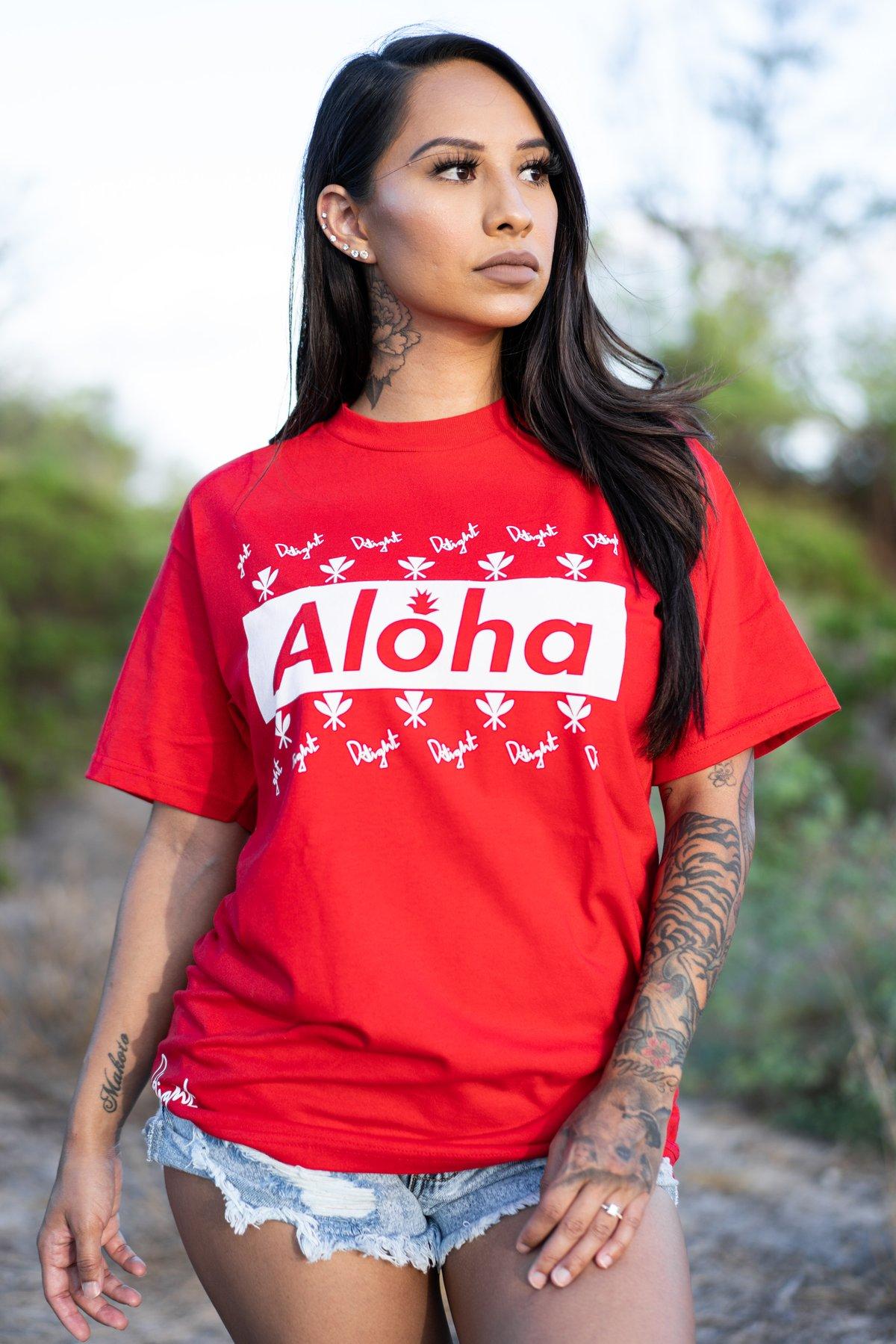 Aloha Slapped Red T-shirt