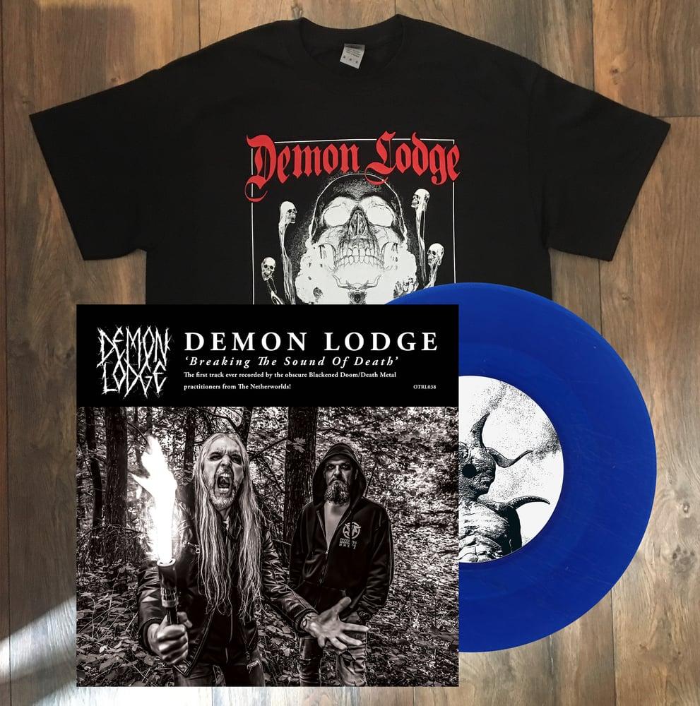 Image of DEMON LODGE/TMDC - Split Single + T-Shirt Bundle.