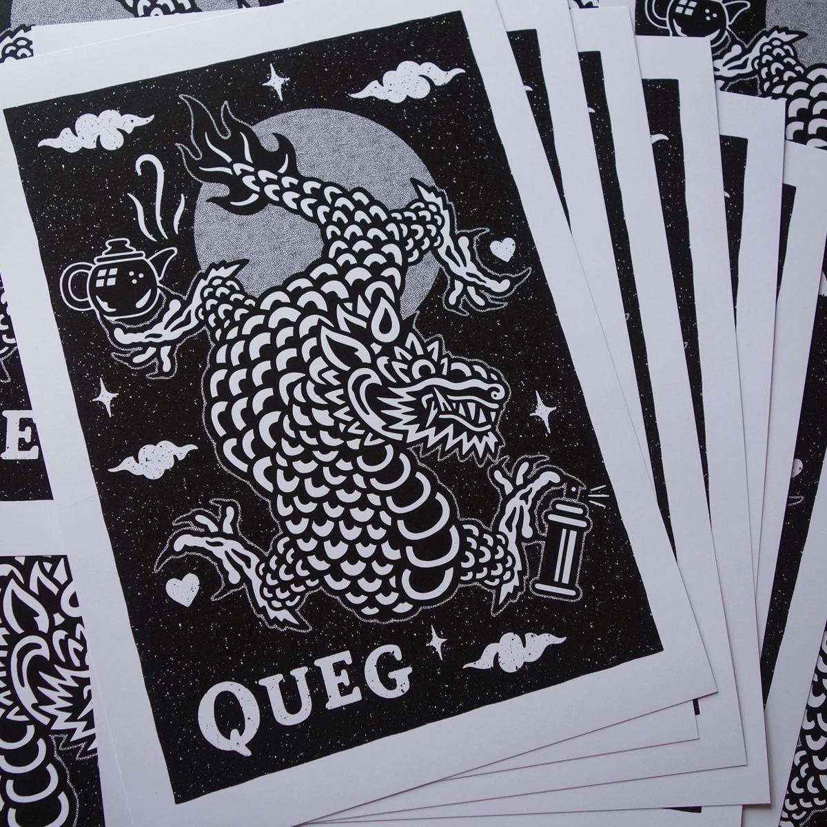 Kev Grey 'Queg Print'