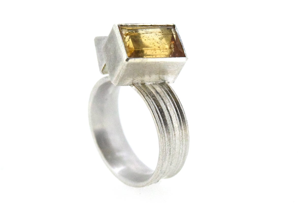 Imperial topaz ring. Sterling silver