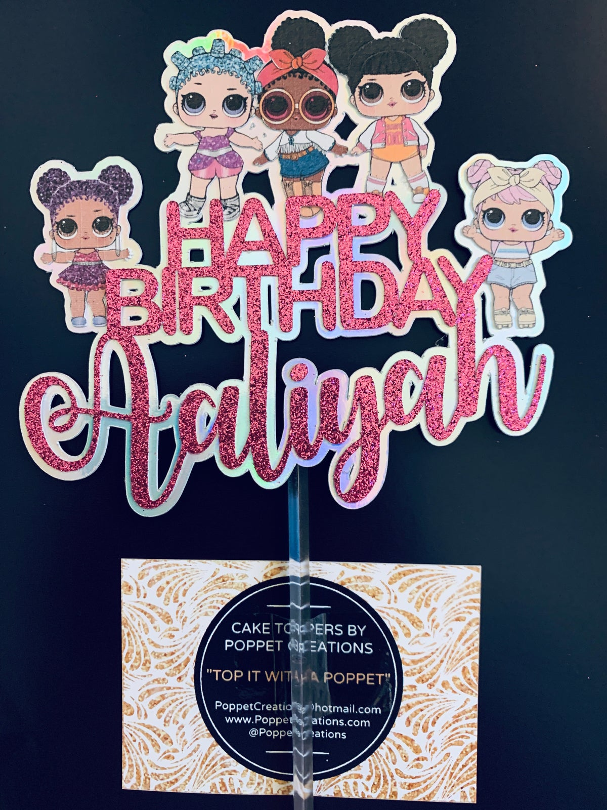 Image of Personalised Happy Birthday LOL themed topper