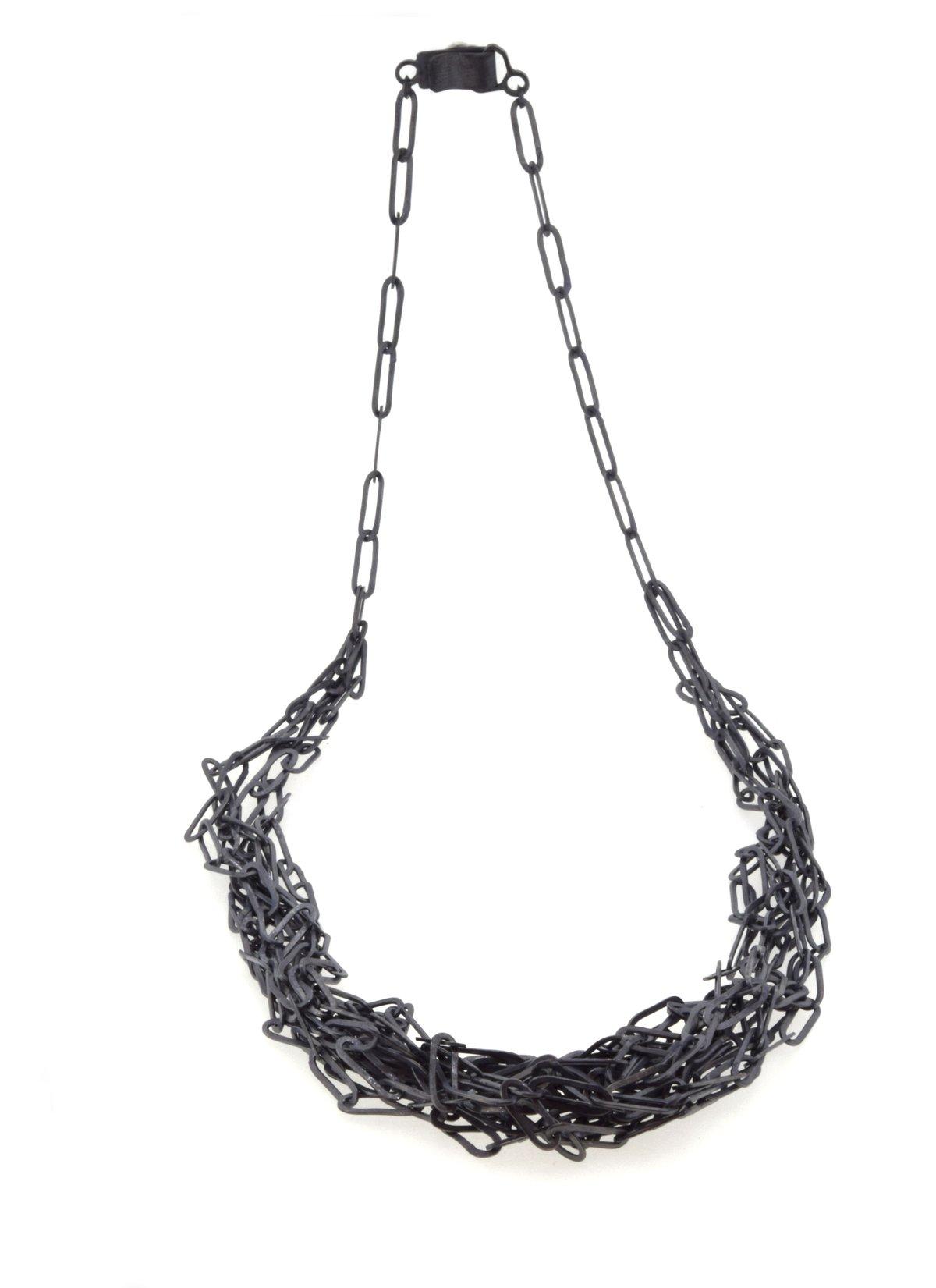 Oxidised silver chaos chain