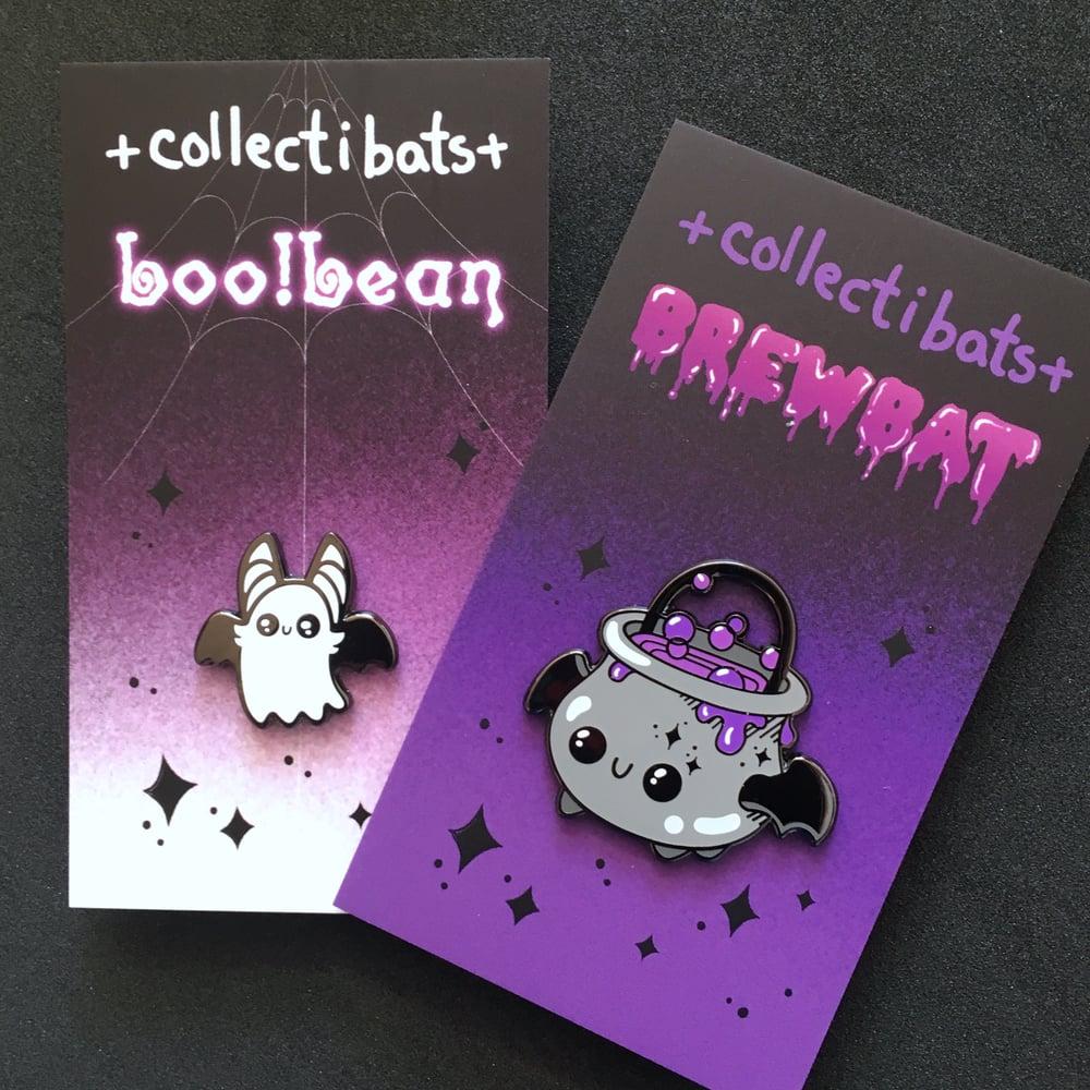 Boo! Bean - Batty Ghost Enamel Pin