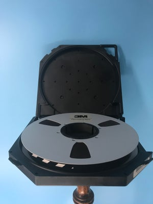 "Image of 3M 8207 1"" x 7200' Reel to Reel on 10.5"" Precision Metal Reel in TapeCare Case NEW"