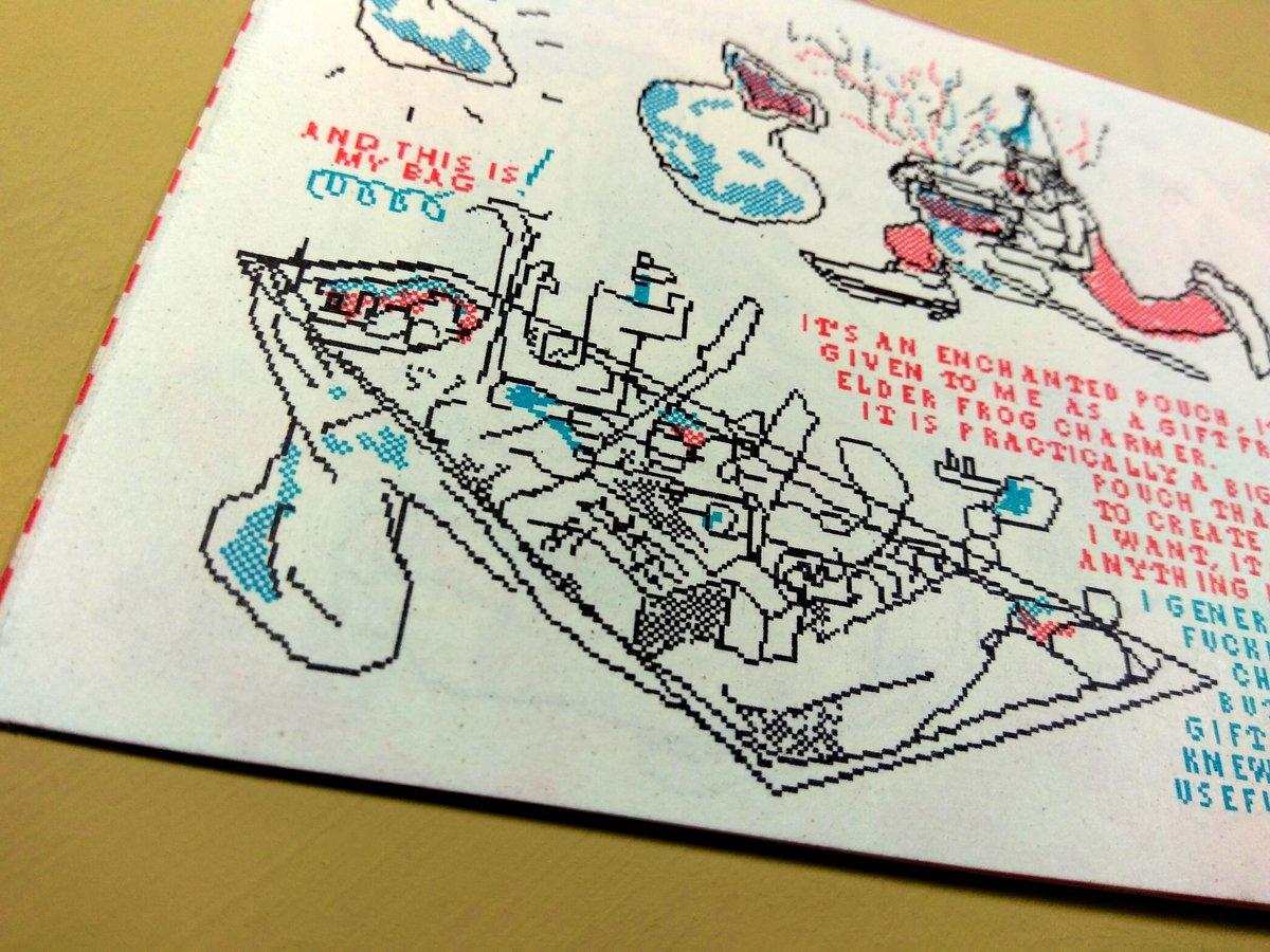 Image of 🍄''Melancholy Revamped'' Risograph Pixel Comic