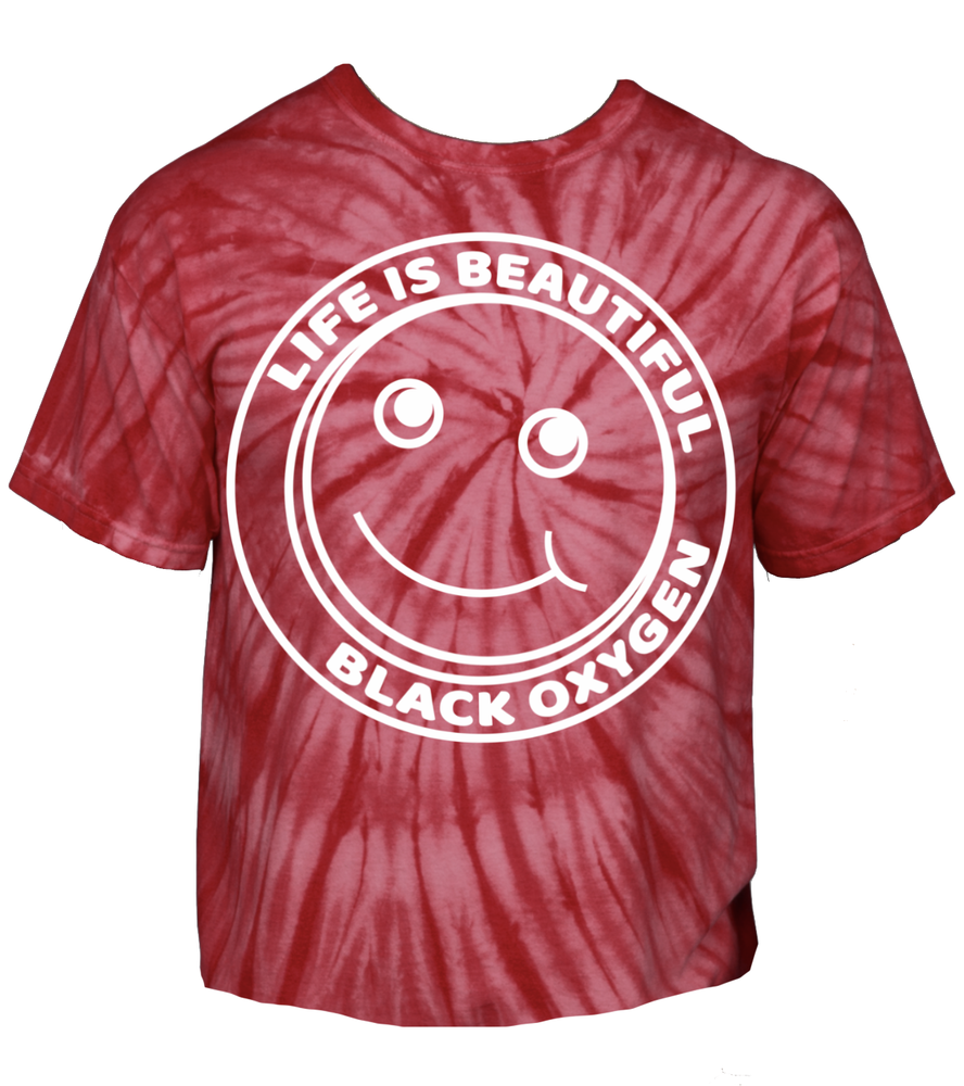 """Image of BLACK OXYGEN """"LIFE IS BEAUTIFUL"""" T-SHIRT - PREORDER"""