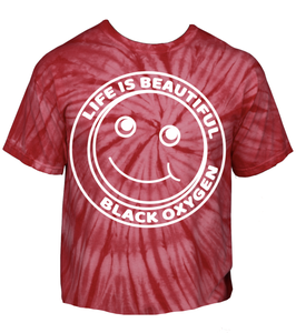 "Image of BLACK OXYGEN ""LIFE IS BEAUTIFUL"" T-SHIRT"