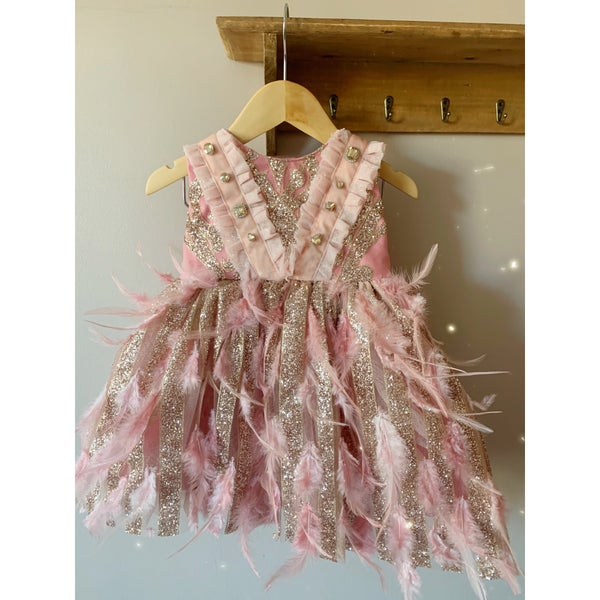 Image of The feather boa dress