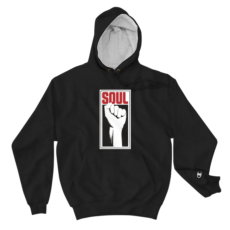 Image of Soul Power Fist Champion Hoodie (Black)