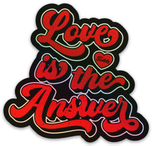 Image of Love is the Answer Lettering Tee and Sweat Shirt