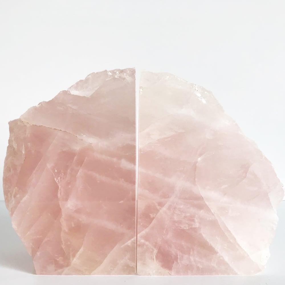 Image of Rose quartz Bookends no.65