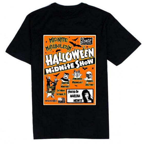 Image of Midnite Mausoleum Halloween Retro Shirt 2020
