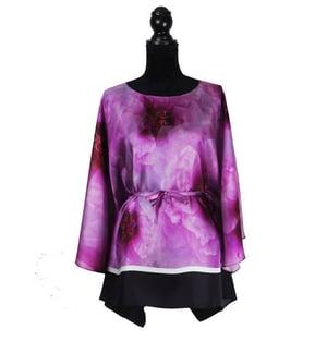 "Image of Silk Twill Top ""Mauve Peony"""