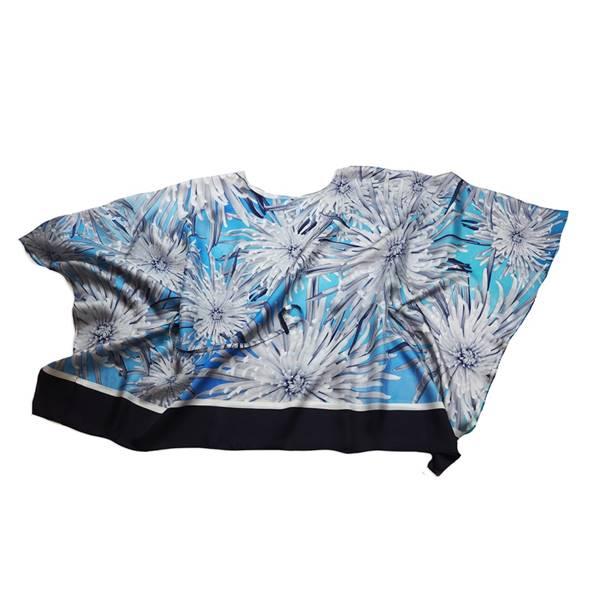 "Image of Silk Twill Top ""Cactus Dahlia"""