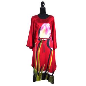 "Image of Silk Twill Kaftan ""Pink Tulip"""