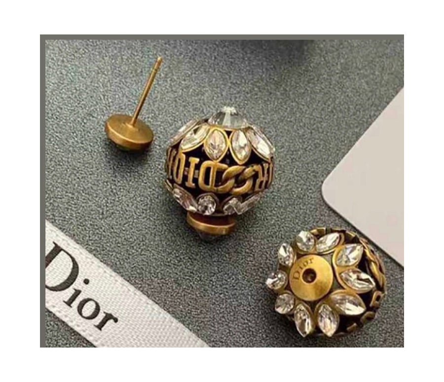 """Image of   DIOR INSPIRED """"ACORN"""" STUDS  """